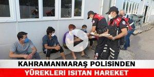 Kahramanmaraş polisinden yürekleri ısıtan hareket