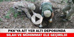 PKK'ya ait yer altı deposunda silah ve mühimmat ele geçirildi