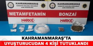 Kahramanmaraş'ta uyuşturucudan 4 kişi tutuklandı