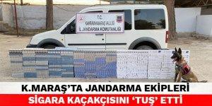 Kahramanmaraş'ta jandarma ekipleri sigara kaçakçısını 'Tuş' etti