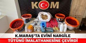 Kahramanmaraş'ta evini nargile tütünü imalathanesine çevirdi
