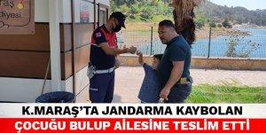 Kahramanmaraş'ta jandarma kaybolan çocuğu bulup ailesine teslim etti