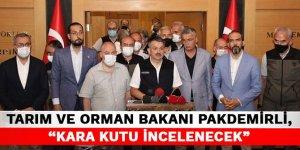 """Tarım ve Orman Bakanı Pakdemirli, """"Kara kutu incelenecek"""""""