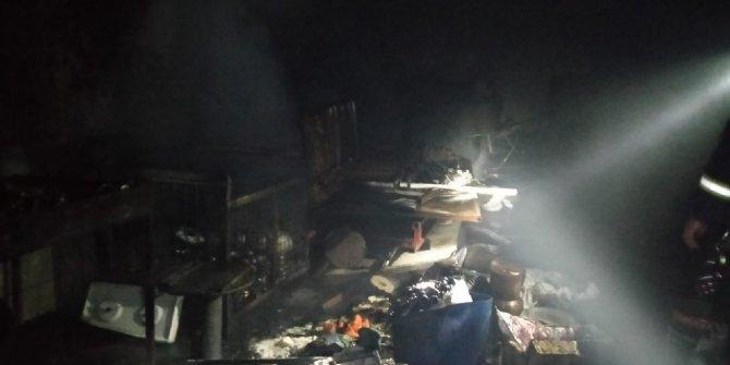 Kahramanmaraş'ta çaydanlık imalathanesinde yangın
