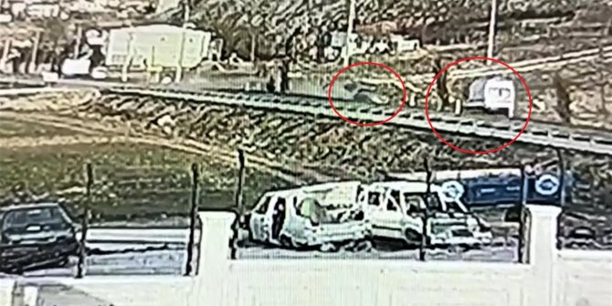 Kahramanmaraş'taki feci kaza kamerada