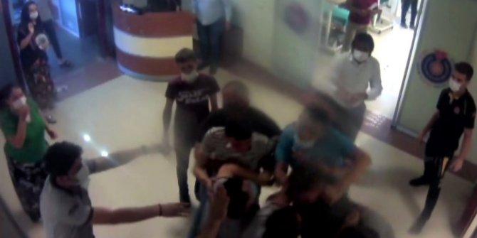 Kahramanmaraş'ta hastane personeline saldırı kamerada
