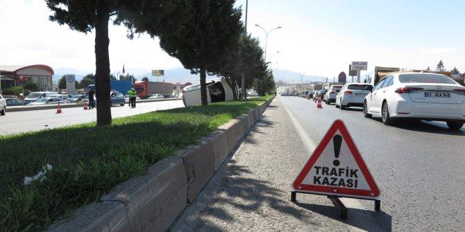 Kahramanmaraş'ta peş peşe kaza: 4 yaralı
