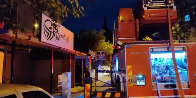 Kahramanmaraş'ta apartmanda yangın