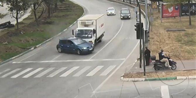 Korkutan trafik kazaları kamerada